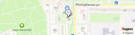 Докторский на карте Краснознаменска