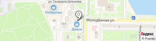 Векас на карте Краснознаменска