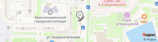 Новосёл на карте Краснознаменска