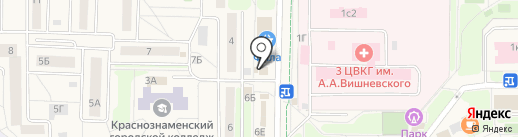 Пробит на карте Краснознаменска