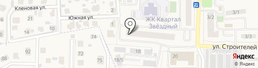 Квартал Звёздный на карте Краснознаменска