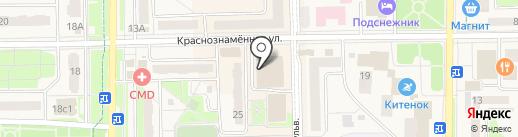 Магазин текстильной продукции на карте Краснознаменска
