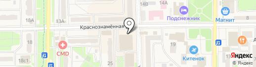Банкомат, Банк ВТБ 24, ПАО на карте Краснознаменска