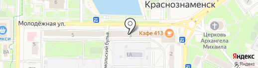 Технорадуга на карте Краснознаменска