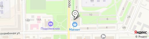 Элекснет на карте Краснознаменска