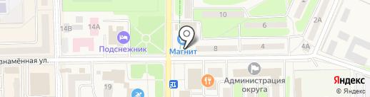 Аист на карте Краснознаменска