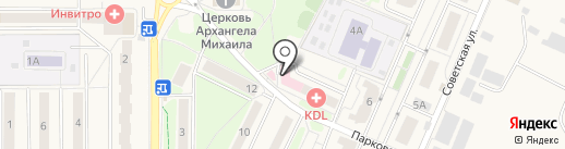 Городская детская поликлиника на карте Краснознаменска