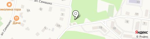 Мясной магазин на ул. Сосны пос на карте Сосен