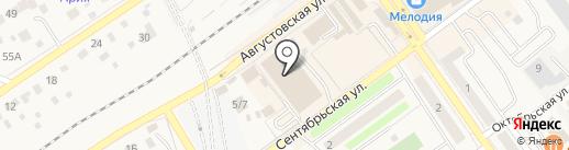 Зебра на карте Апрелевки