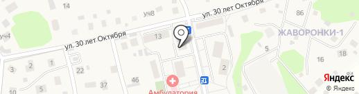 Жаворонки на карте Жаворонков
