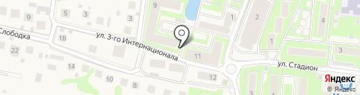 Первомайская на карте Павловской Слободы