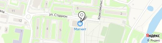 Осьминог на карте Павловской Слободы