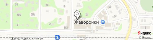 Банк Воронеж на карте Жаворонков