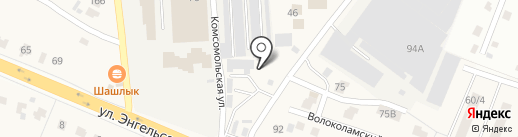 Магазин на Волоколамской 1-й на карте Дедовска