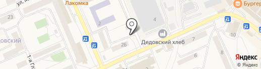 Киоск фастфудной продукции на карте Дедовска