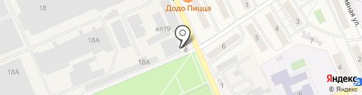 Магазин одежды на Клубной на карте Дедовска