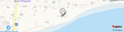 Лебедь на карте Анапы
