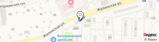 Киоск по продаже фруктов и овощей на карте Андреевки