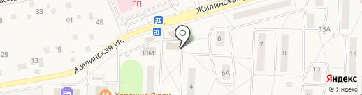Сеть магазинов и киосков молочной продукции на карте Андреевки