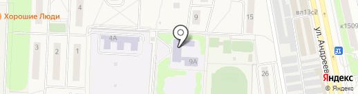 Андреевская средняя общеобразовательная школа на карте Андреевки