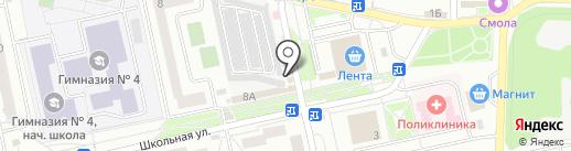Магазин кондитерских и хлебобулочных изделий на карте Нахабино