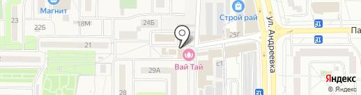 Магазин автозапчастей на карте Андреевки