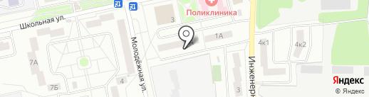 Нахабинские инженерные сети, МУП на карте Нахабино