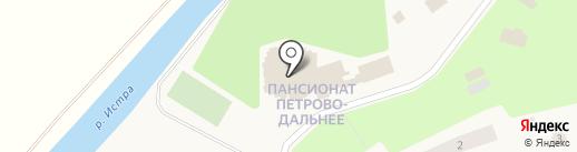Петрово-Дальнее на карте Петрово-Дальнего