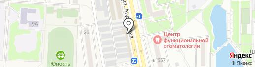 Топтыжка на карте Андреевки