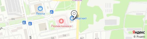 Магнит на карте Нахабино