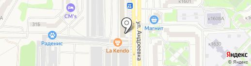 Золотой ключ на карте Андреевки