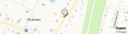 Магазин продуктов на карте Исаково