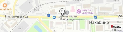Магазин тканей на карте Нахабино