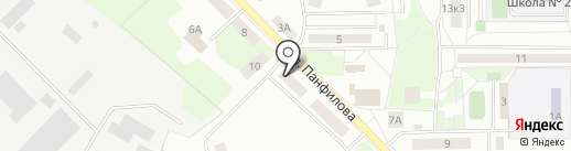 Пенсионный фонд РФ на карте Нахабино