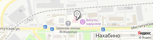 Нахабинская городская больница на карте Нахабино