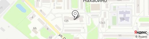 Нахабино Центральное на карте Нахабино