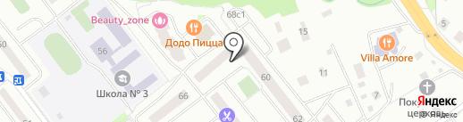 Александрин на карте Нахабино