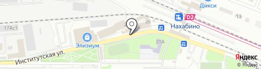 Орхедея на карте Нахабино