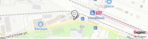 Алмазный Двор на карте Нахабино