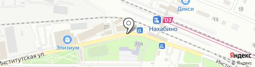 Рублёвский на карте Нахабино