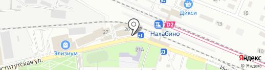 Киоск фастфудной продукции на карте Нахабино