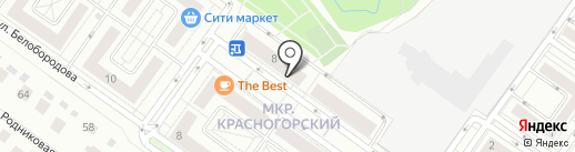 Красногорский на карте Нахабино