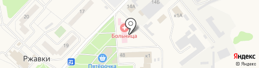 Поликлиника, Городская больница на карте Ржавок