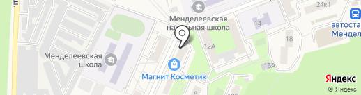 Сбербанк, ПАО на карте Менделеево