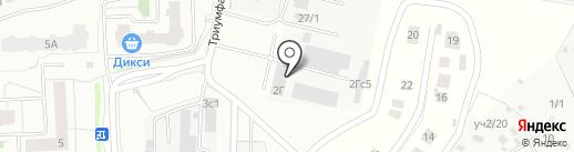 Колорит на карте Одинцово