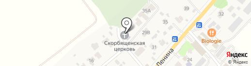 Храм иконы Божией Матери Всех Скорбящих Радость на карте Ильинского
