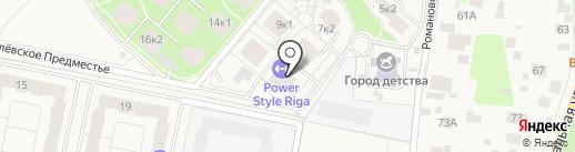 Рублевское предместье на карте Глухово