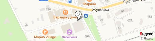 Шале-1, ТСЖ на карте Жуковки