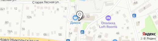 Никольский на карте Красногорска