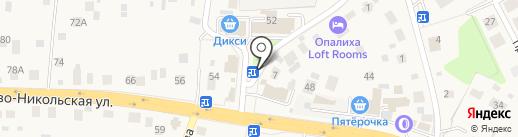 Киоск фруктов и овощей на карте Красногорска